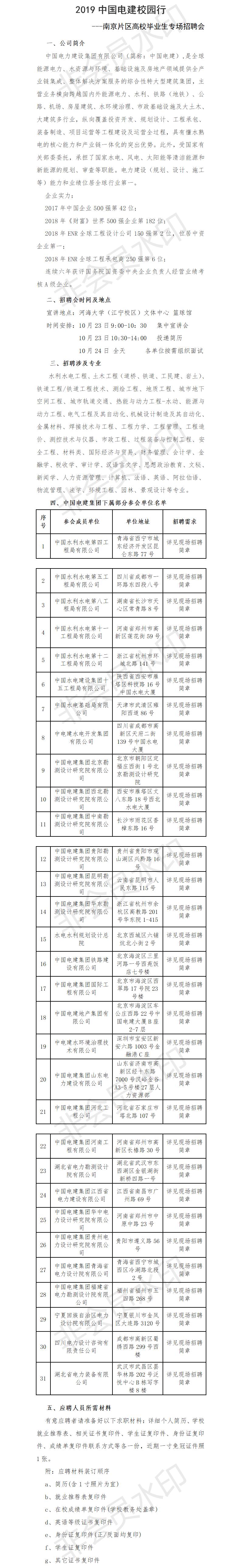 附件1 中国电建2019年南京片区高校毕业生专场招聘公告.png